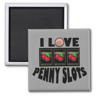 I Love Penny Slots 2 Inch Square Magnet