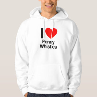 i love penny whistles hooded pullover