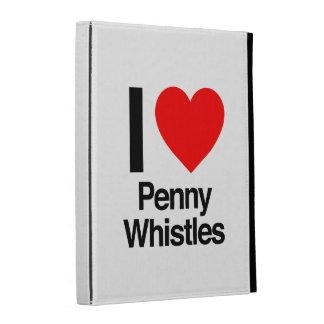 i love penny whistles iPad folio cover