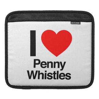 i love penny whistles iPad sleeve