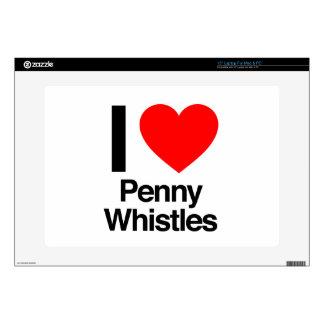 i love penny whistles laptop skin