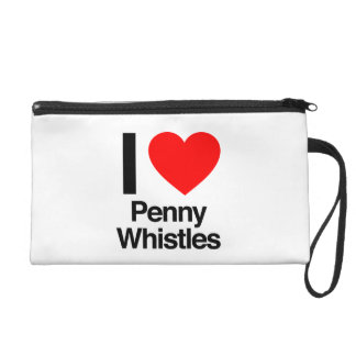 i love penny whistles wristlet purses
