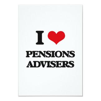 I love Pensions Advisers 3.5x5 Paper Invitation Card