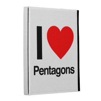 i love pentagons iPad folio cover