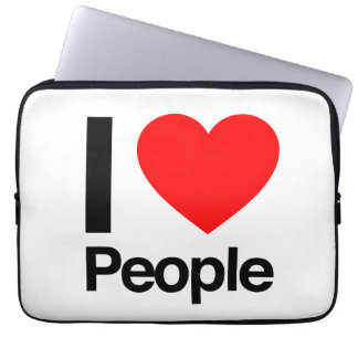 i love people laptop computer sleeve