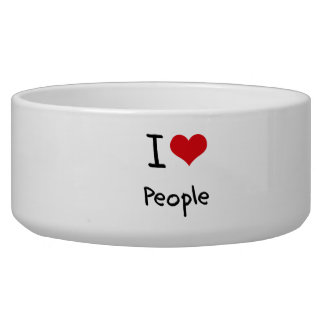 I love People Dog Water Bowl