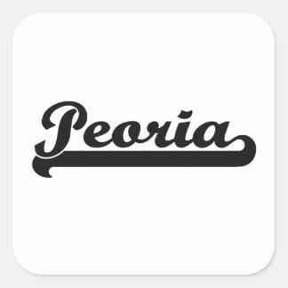 I love Peoria Arizona Classic Design Square Sticker