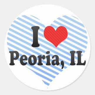 I Love Peoria, IL Classic Round Sticker