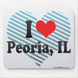 I Love Peoria, IL Mouse Pad
