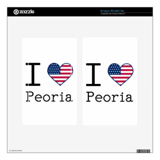I love Peoria Kindle Fire Decal