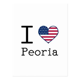 I love Peoria Postcard