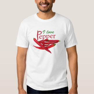 I love pepper tee shirt