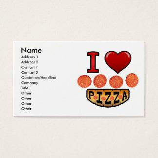 I love pepperoni pizza. business card