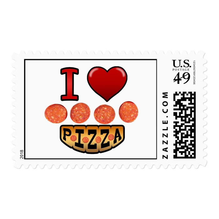 I love pepperoni pizza. postage