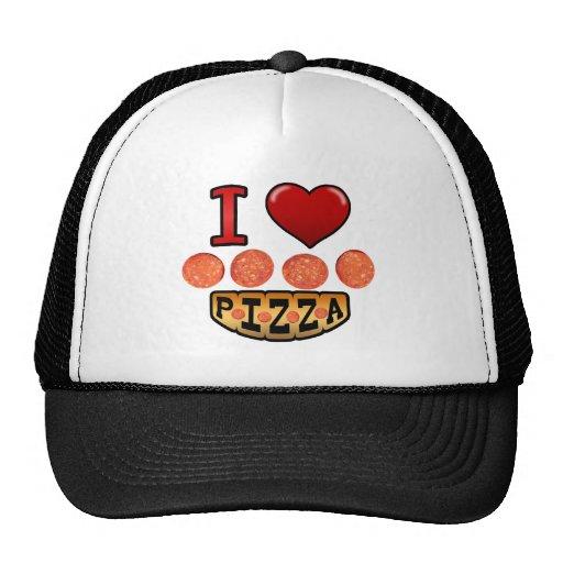 I love pepperoni pizza. trucker hat