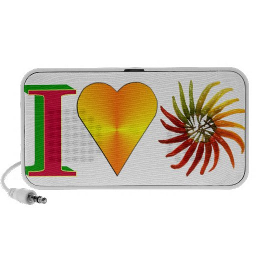 I Love Peppers Doodle Laptop Speakers