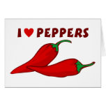 I Love Peppers Greeting Card