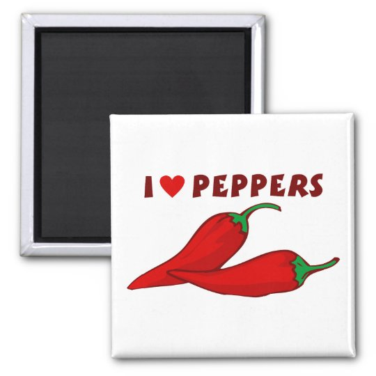 I Love Peppers Magnet