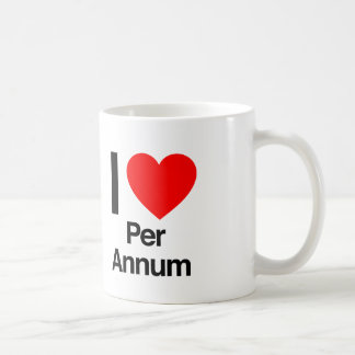 i love per annum mug