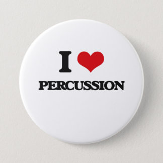 I Love Percussion Button