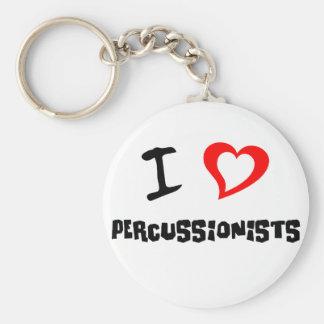 I Love Percussionists Keychain