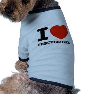 I Love percussions Doggie Tshirt