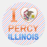 I Love Percy, IL Stickers