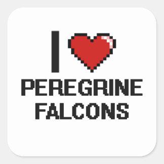 I love Peregrine Falcons Digital Design Square Sticker