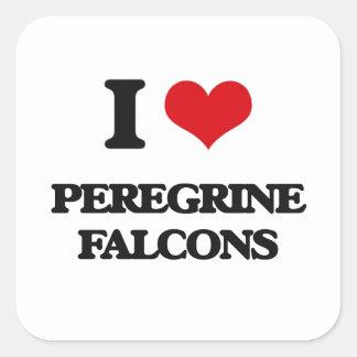 I love Peregrine Falcons Square Sticker