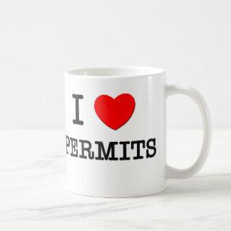 I Love Permits Coffee Mug