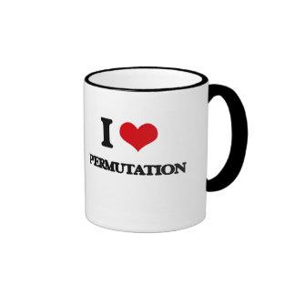 I Love Permutation Ringer Coffee Mug