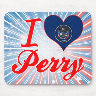 I Love Perry, Utah Mouse Pad