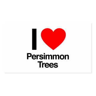 i love persimmon trees business card templates