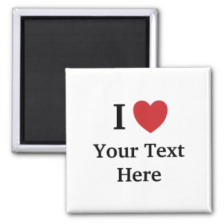 I Love Personalisable Fridge Magnet - Add text