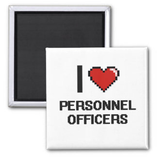 I love Personnel Officers 2 Inch Square Magnet