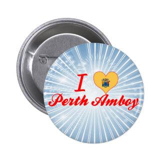 I Love Perth Amboy New Jersey Pinback Buttons