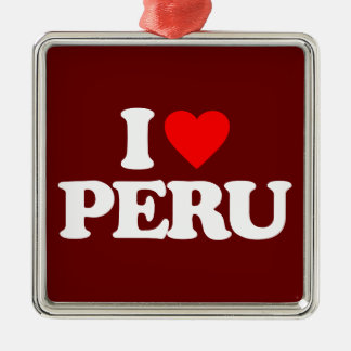 I LOVE PERU METAL ORNAMENT