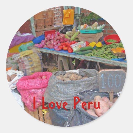 I Love Peru-Peruvian Potatoes Classic Round Sticker