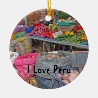 I Love Peru-Peruvian Potatoes Ornaments