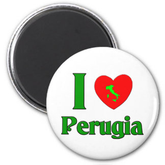 I Love Perugia Italy 2 Inch Round Magnet