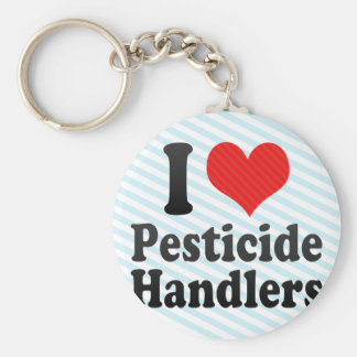I Love Pesticide Handlers Keychains