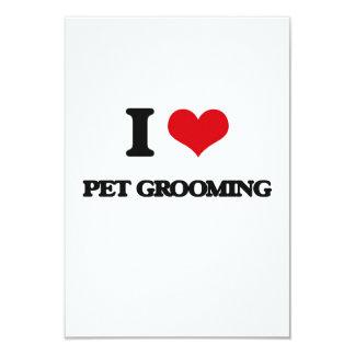 I Love Pet Grooming 3.5x5 Paper Invitation Card
