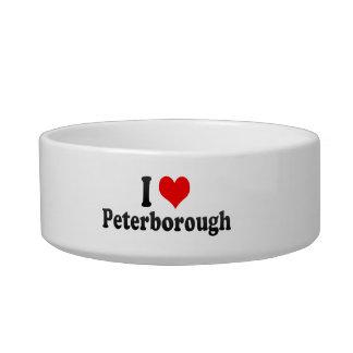 I Love Peterborough, United Kingdom Cat Food Bowl