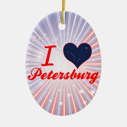 I Love Petersburg, Alaska Christmas Ornaments