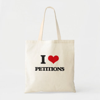 I Love Petitions Canvas Bags