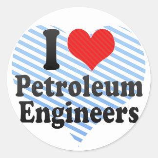 I Love Petroleum Engineers Sticker