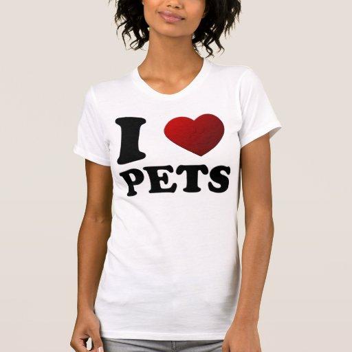 I LOVE PETS 3D TEE SHIRT