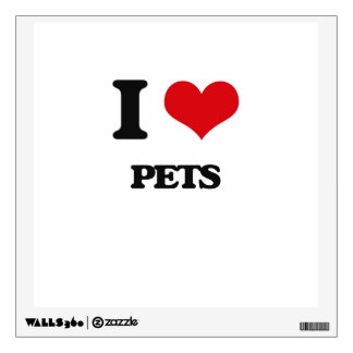 I Love Pets Room Sticker
