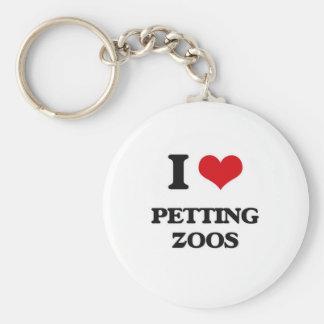 I Love Petting Zoos Keychain