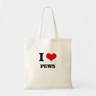 I Love Pews Budget Tote Bag